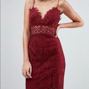 Asos lace cami midi dress